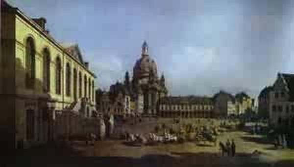 the new market square in dresden seen from the judenhof 1749 XX gemaldegalerie dresden germany